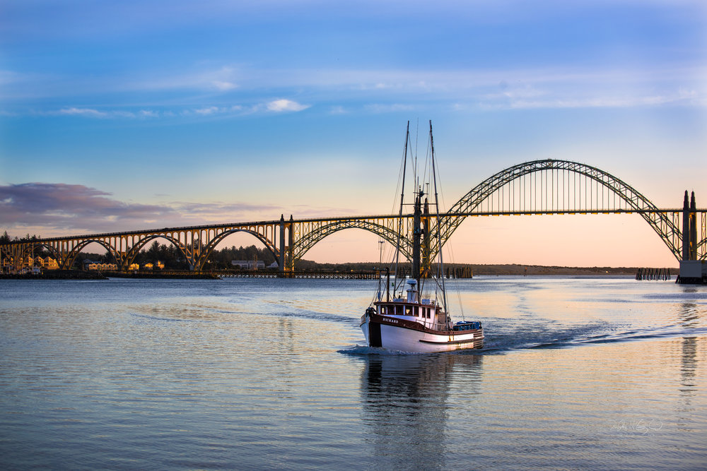 Winding Down the Day, Newport Oregon