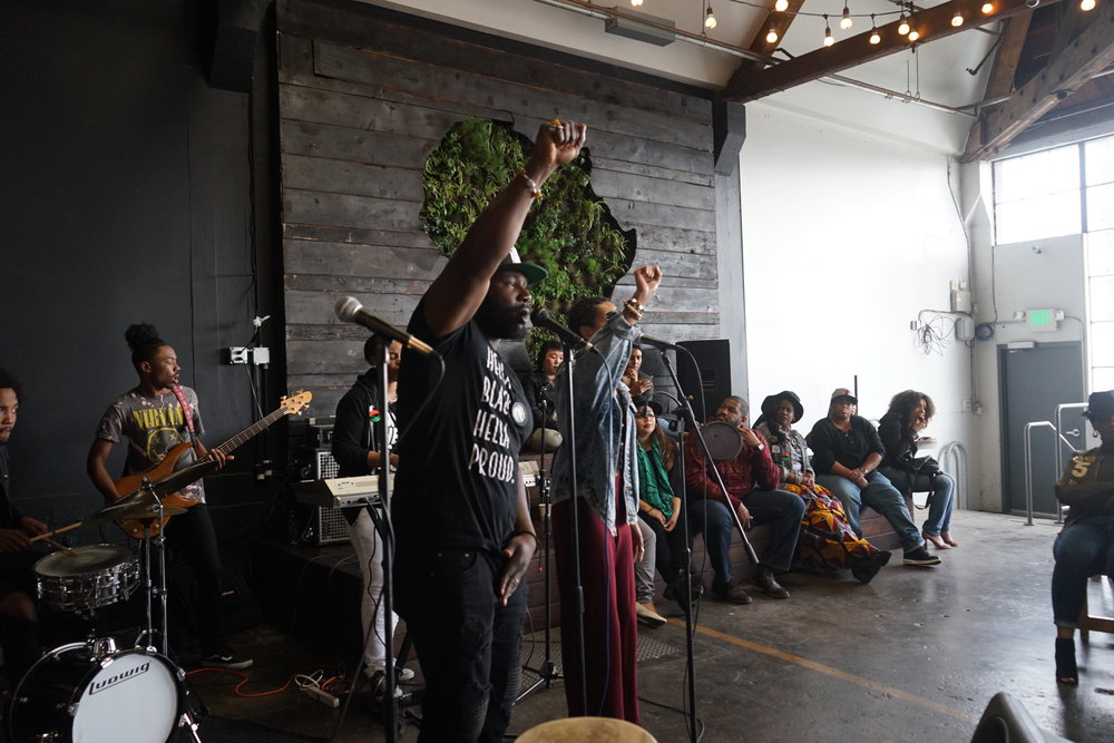 SOL Development performing for Black Coffee Sunday at Red Bay Coffee in the Fruitvale neighborhood of Oakland, CA.