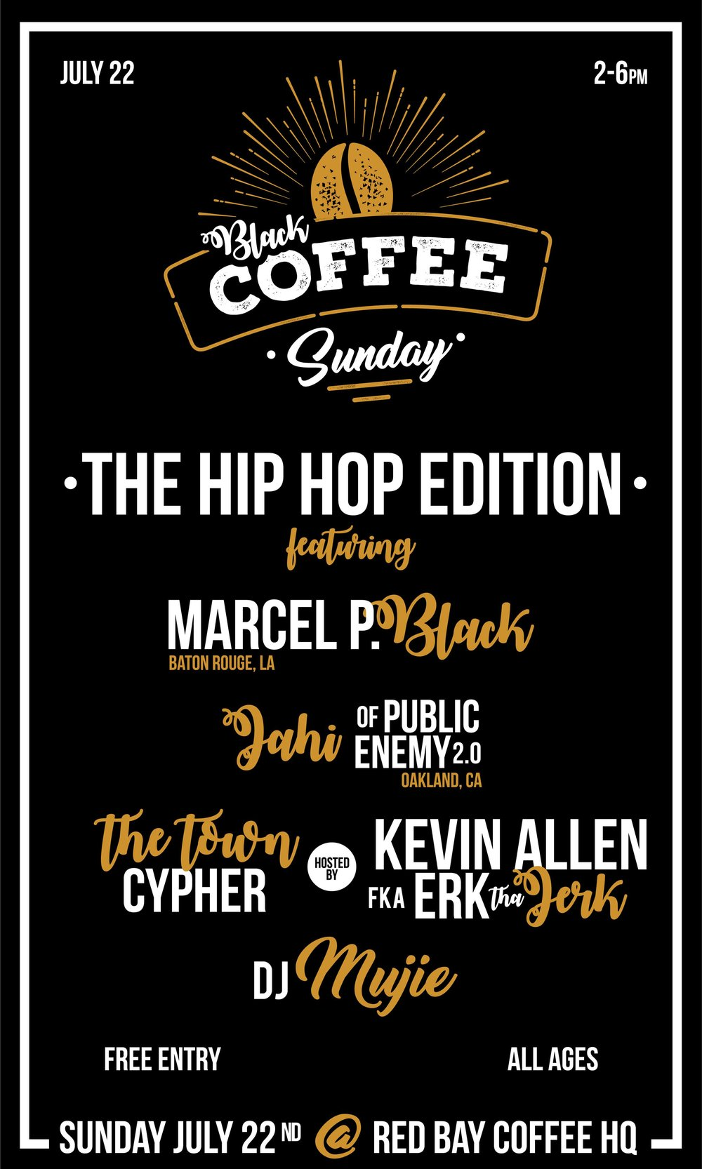Black Coffee Sunday 7/22 - Them People Productions is excited to host yet another in our roster of events and cultural programming aimed at helping our community cultivate healing and hope with our favorite caffeinated day party - Black Coffee Sunday! This live music event offers a safe space for fun, as well as an environment for reflection and networking. It's meant to be a momentary, but necessary, reprieve from the struggle. It's to refuel and recharge you. Help you meet like-minded Black folks. Mentally prepare you for a week where you might be one of the few, if not the only, who understands how hard it is to #staywoke. It's also a damn good excuse to GET LIT on a Sunday afternoon!