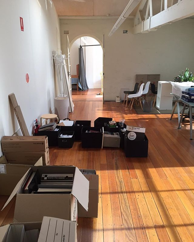 Boxes packed. We are moving today! Bye bye Richmond. #camberwell #looparchitecture
