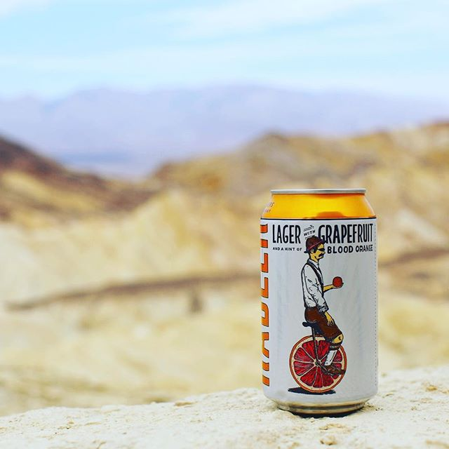 Is that a mirage? Nothing more refreshing after a day hiking Red Cathedral in Death Valley...🙌☀️