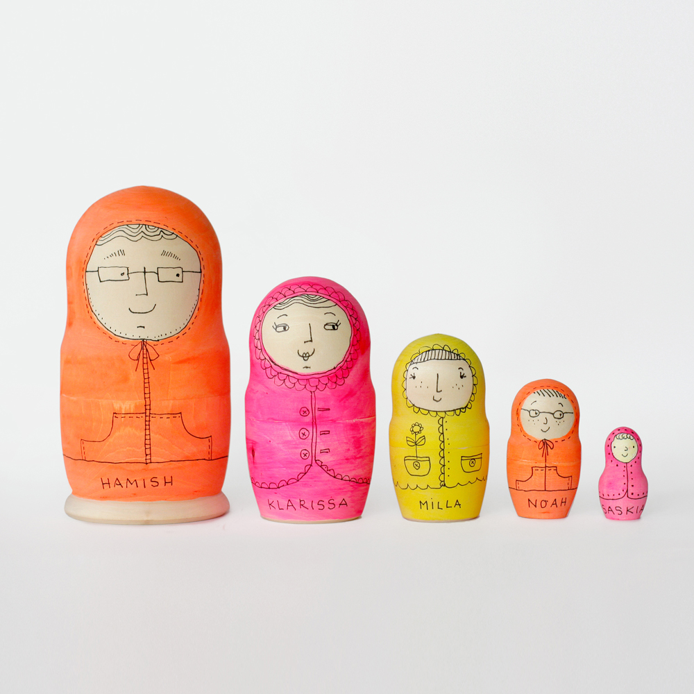 Blank Matryoshka Dolls goldencockerel.com