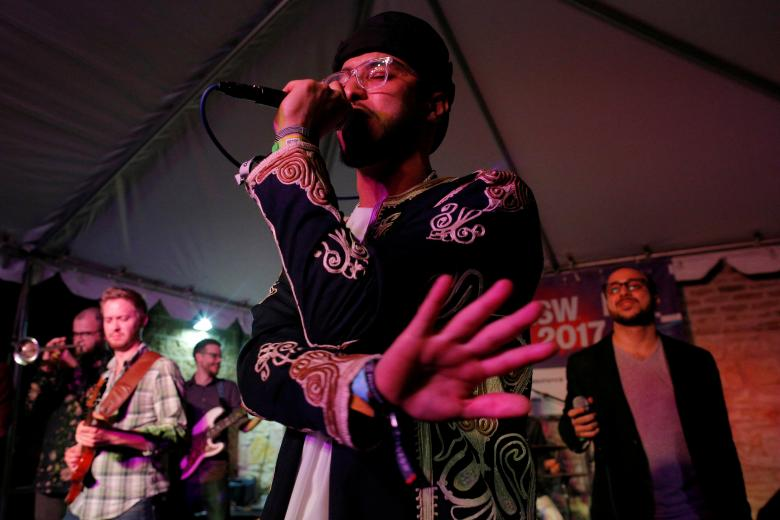 Kayem ft. Bassel & The Supernaturals  ContraBanned: #Music Unites @ SXSW Photo by Brian Snyder, Reuters