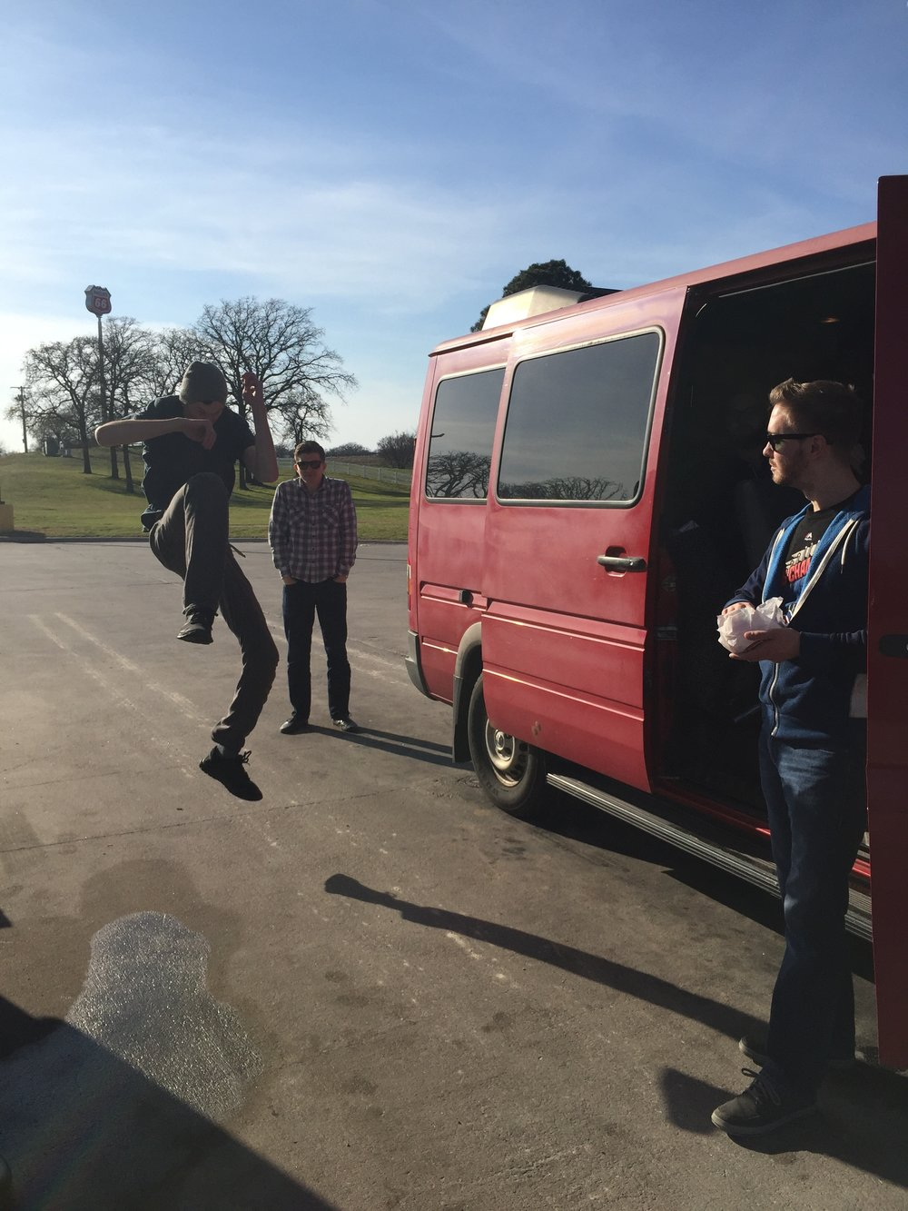 Van stretches on #BasselResistTour