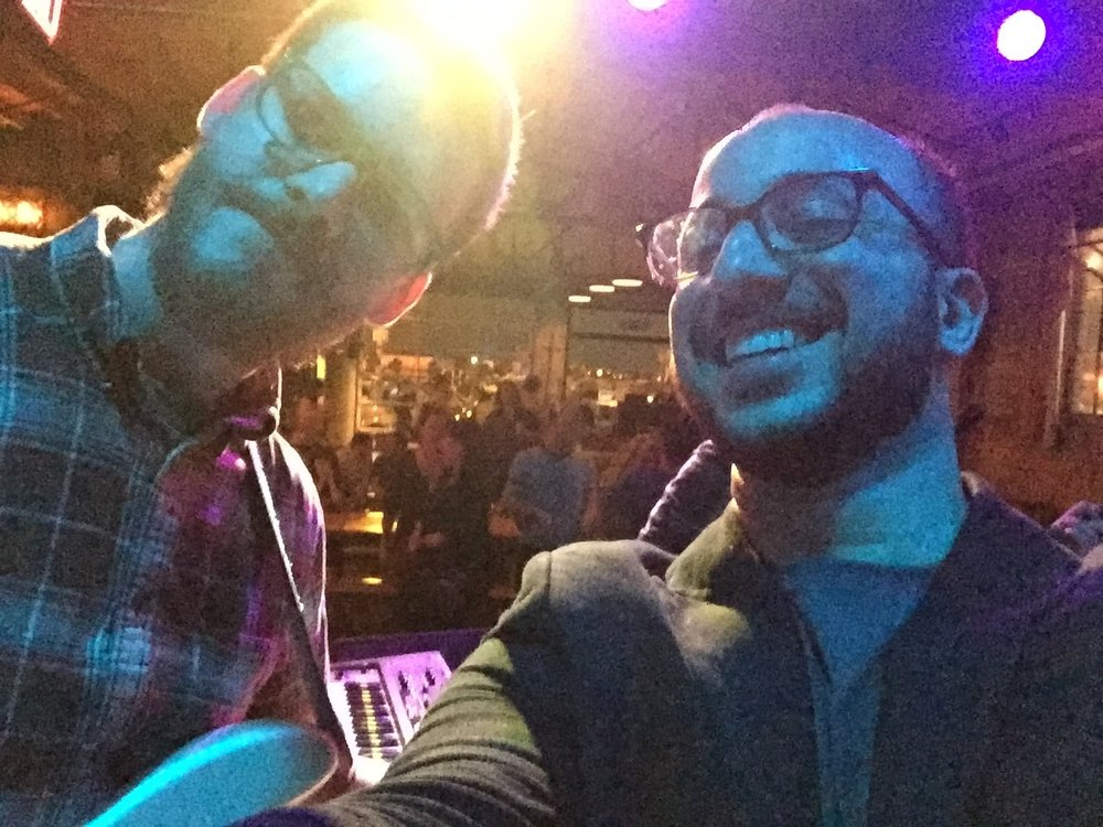 Mid-set selfie with Bassel & Luc in Tulsa, OK @ Fassler Hall. #BasselResistTour