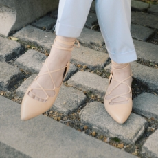 Lace-Up Flats - Banana Republic