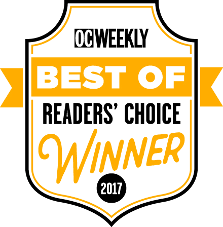 OC Weekly Best of Readers' Choice Winner 2017