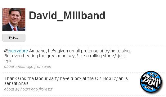 Davis Miliband: Twit