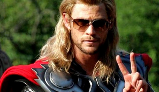 Thor In Sunglasses Says PEACE!