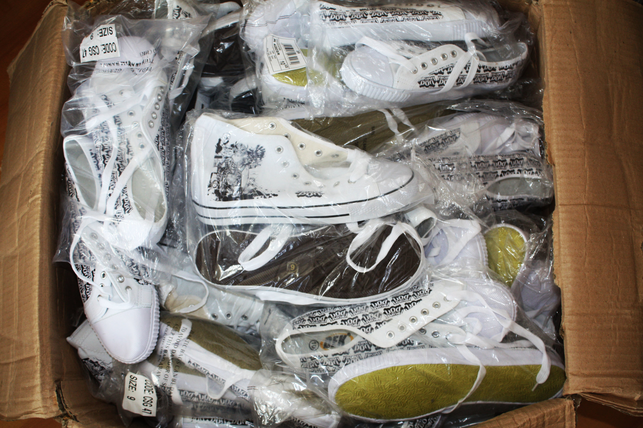 a box of don shoes