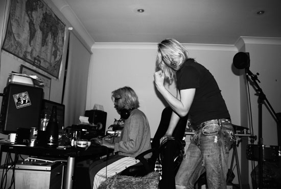 Blonde jeremy Deacon + Akira The Don Recording....