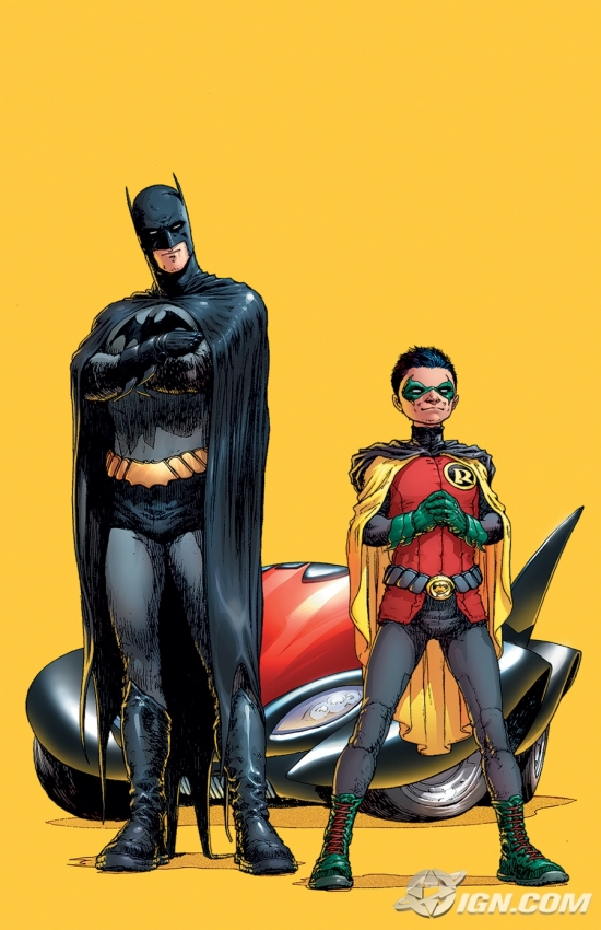 Batman and Robin cover, by Frank Quietly