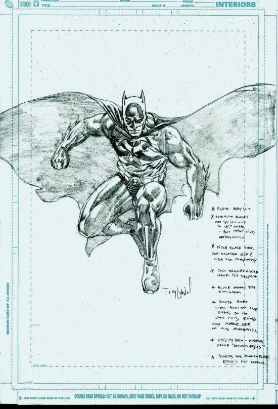 Dick Grayson Black Batman Design by Tony Daniel