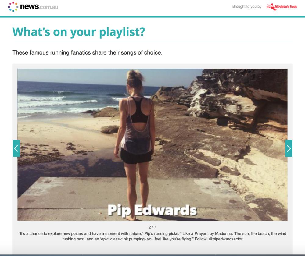 news.com.au - Running Playlist article  2016