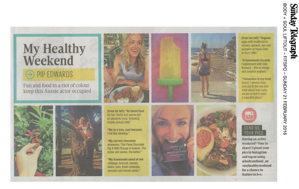 THE SUNDAY TELEGRAPH - BODY + SOUL LIFTOUT article 2016