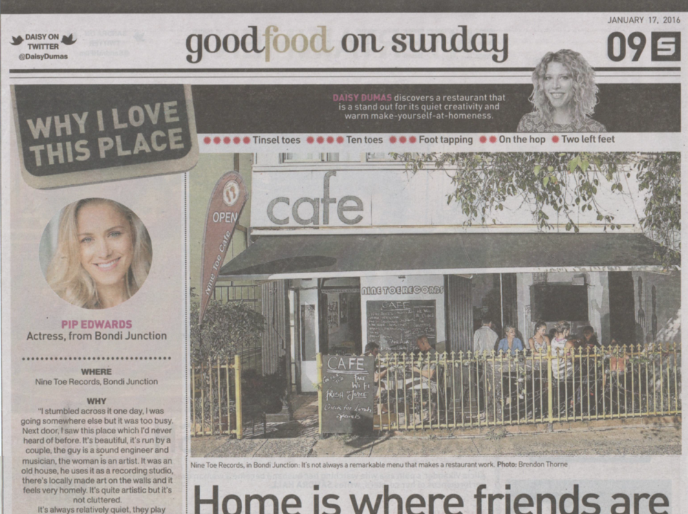 Good Food - Sydney Morning Herald Sunday article 2016