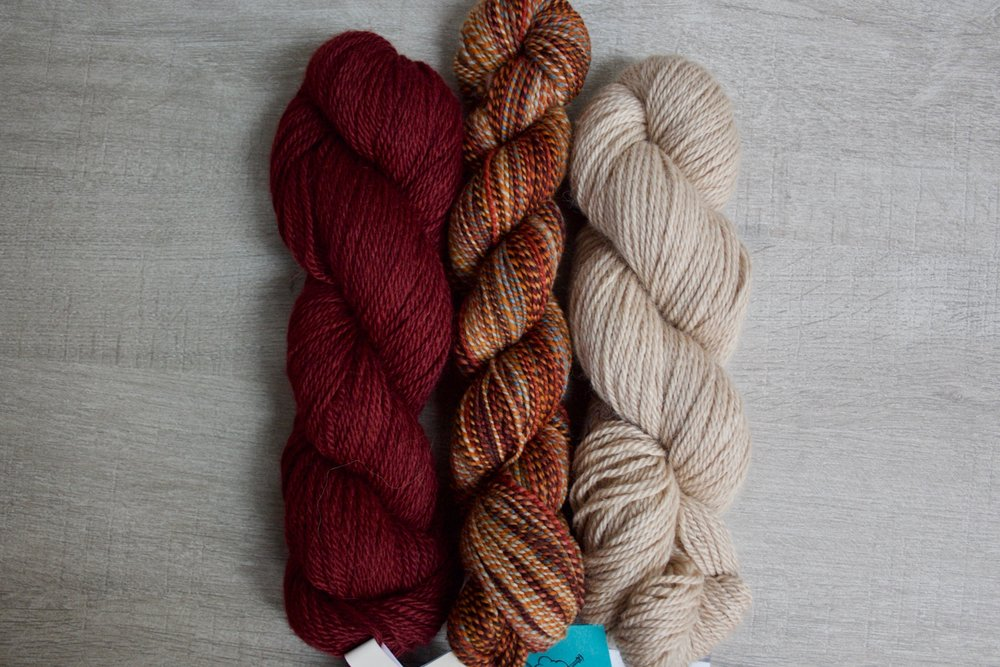 Dyed in the Wool in Mississippi Masala, Road to China Light in Ruby & Riverstone