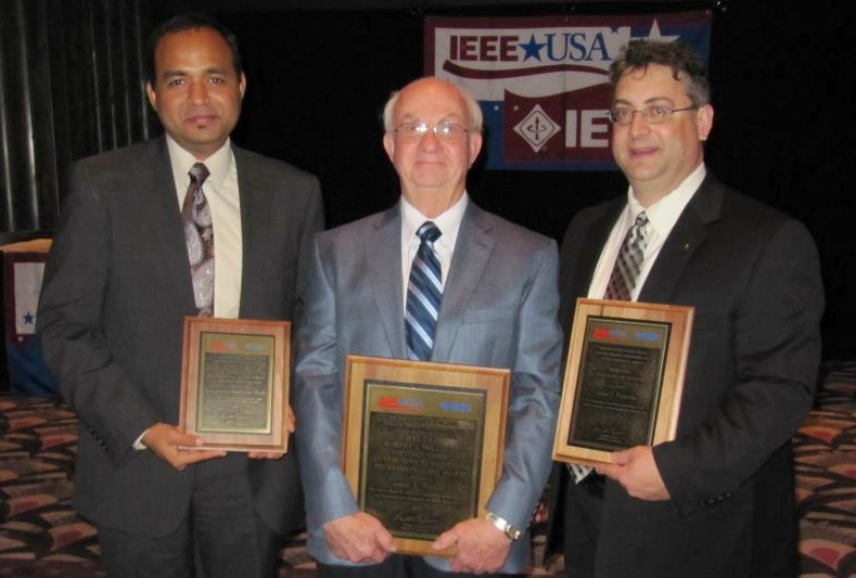 In 2012, with IEEE leaders and fellow honorees Jim Watson and John Paserba