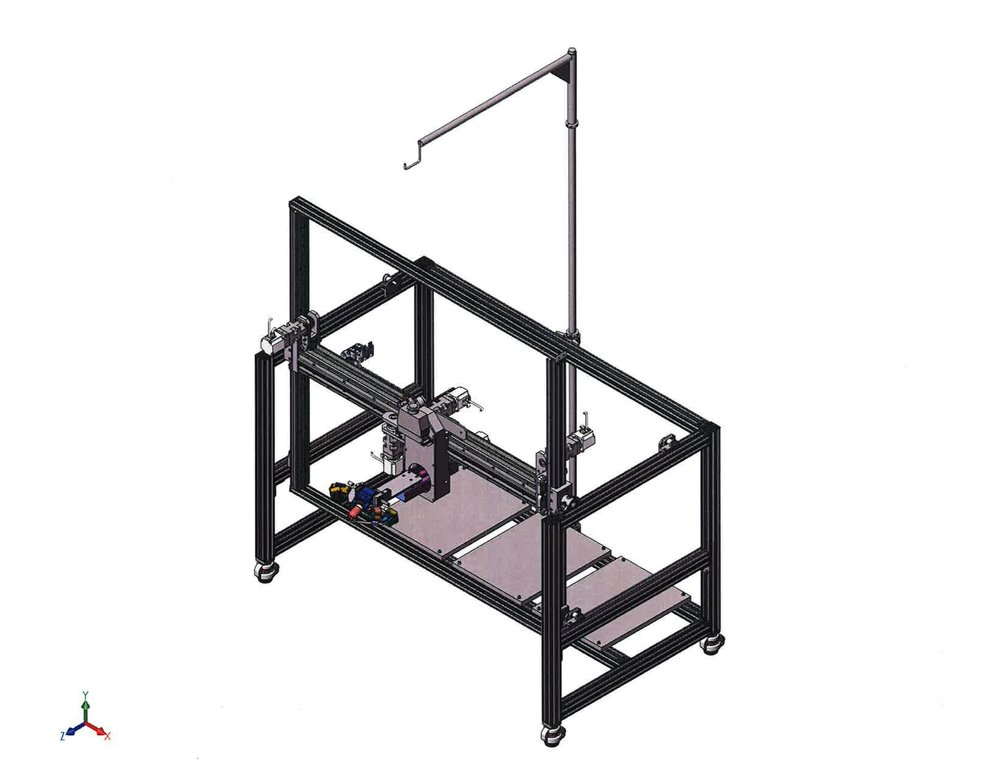 """This is a welding """"test bed"""" as we called it. It's a multi axis gantry allowing weld development to be performed in various positions relative to gravity."""