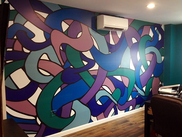 "Mural printed on Vinyl with matte lamination.   193"" x 100"""