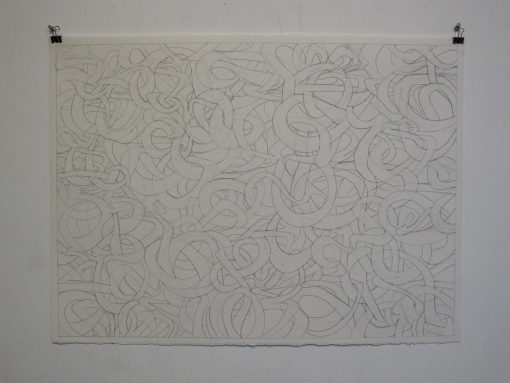 "Graphite on Paper.  22"" x 30"""