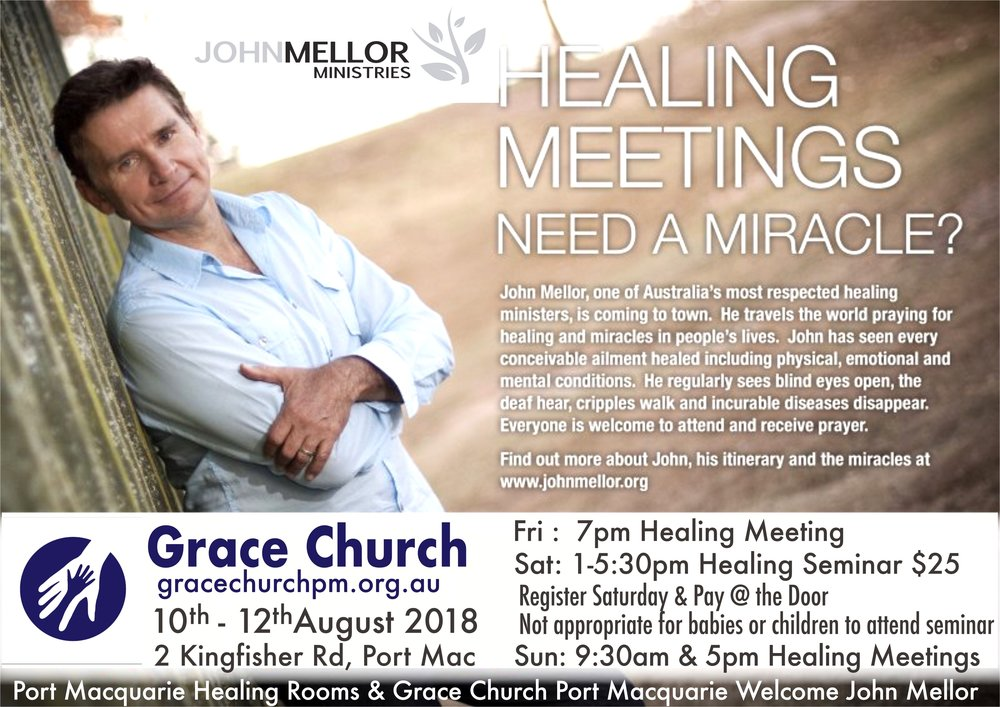 John Mellor at Grace Church Port Macquarie