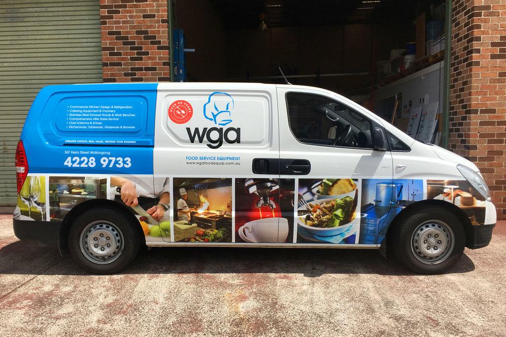WGA Food Equipment - Van Graphics Wrap