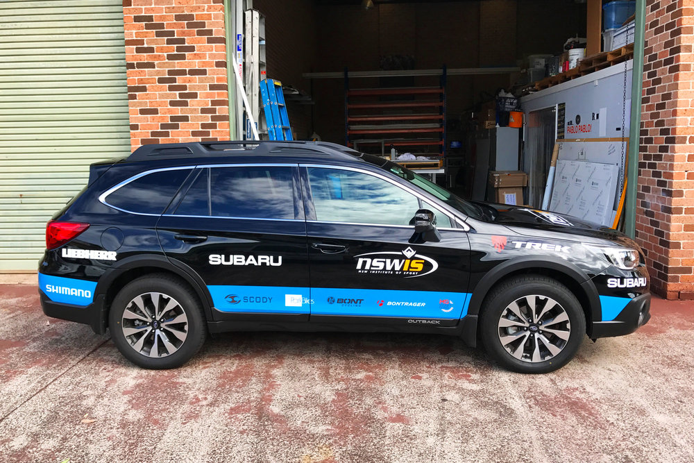 NSW Institute of Sport - Car Stickers
