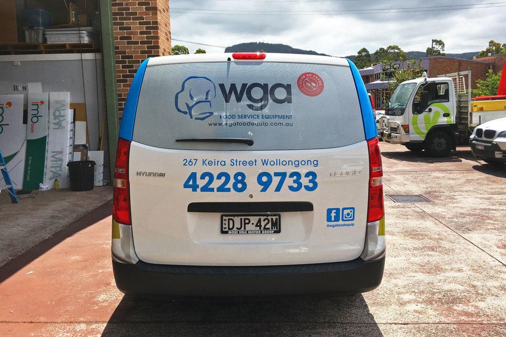 WGA Food Equipment - Van Graphic Wrap