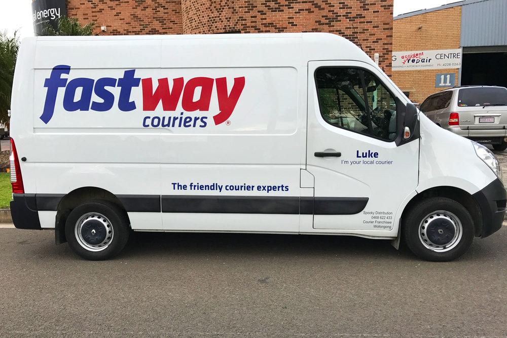 Fast Way - Transport Van Vinyl Logos