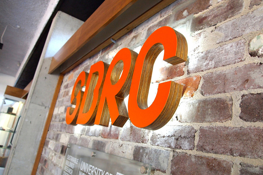 UOW SBRC - Reception Sign Lettering