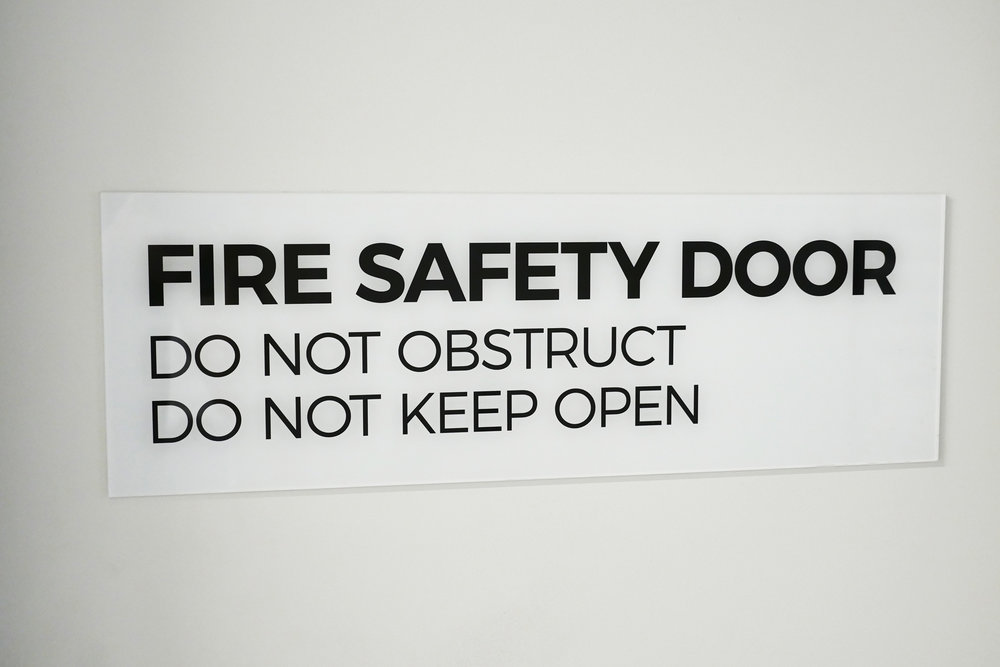 UOW - Statutory Fire Safety Sign
