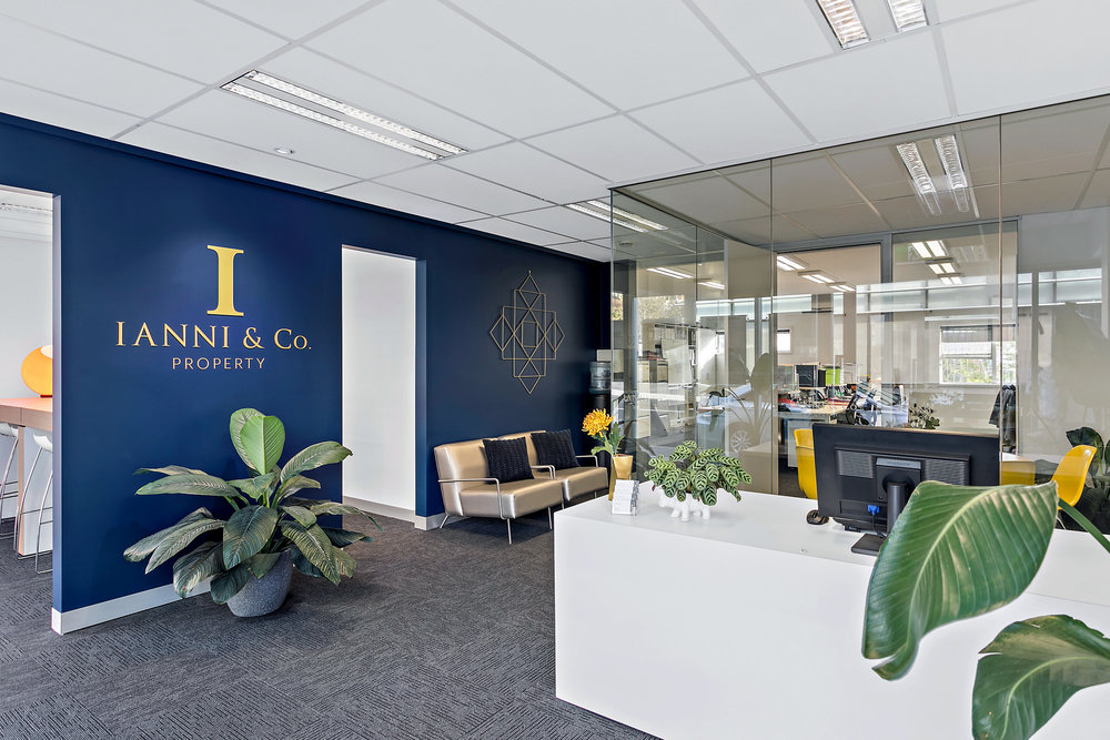 Our work at the new Ianni & Co. Property head office in Wollongong.