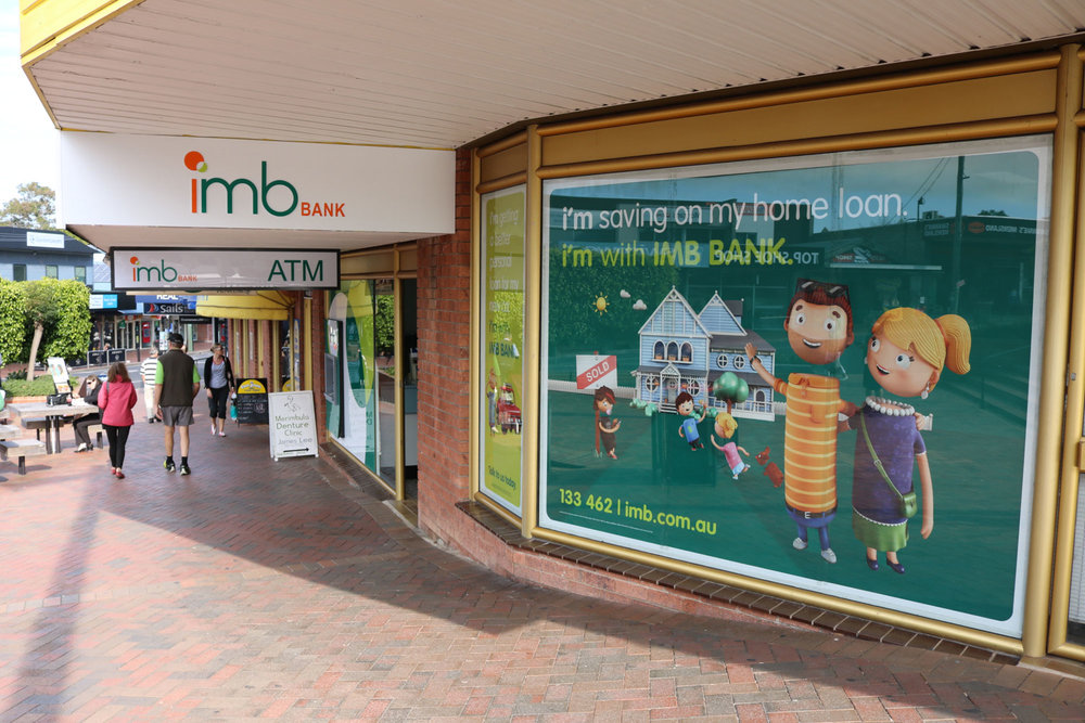 IMB Bank - Window Film Graphics