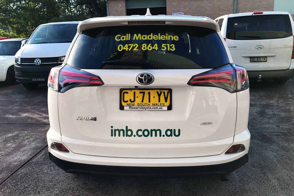 IMB Bank vehicle graphics by Visual Energy