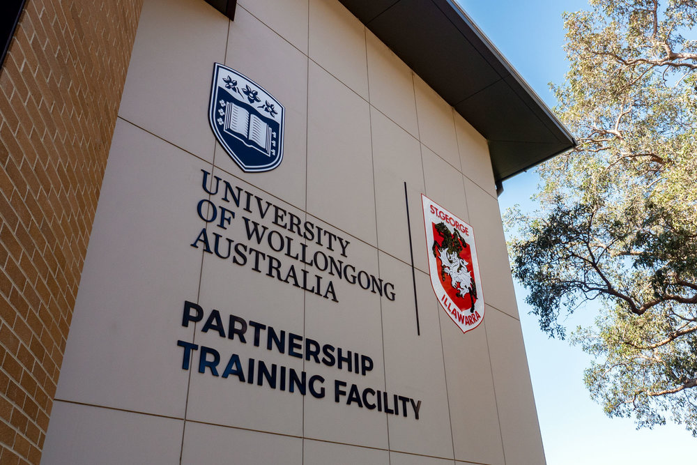 UOW & St George Dragons - Building Logos