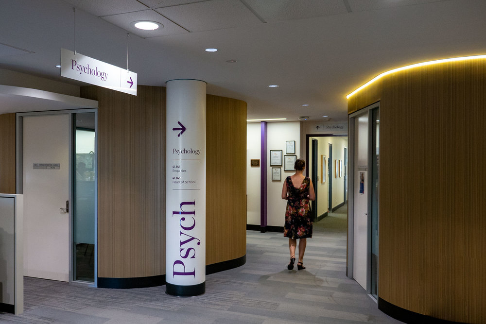 UOW Psychology Faculty - Wall Vinyl Lettering