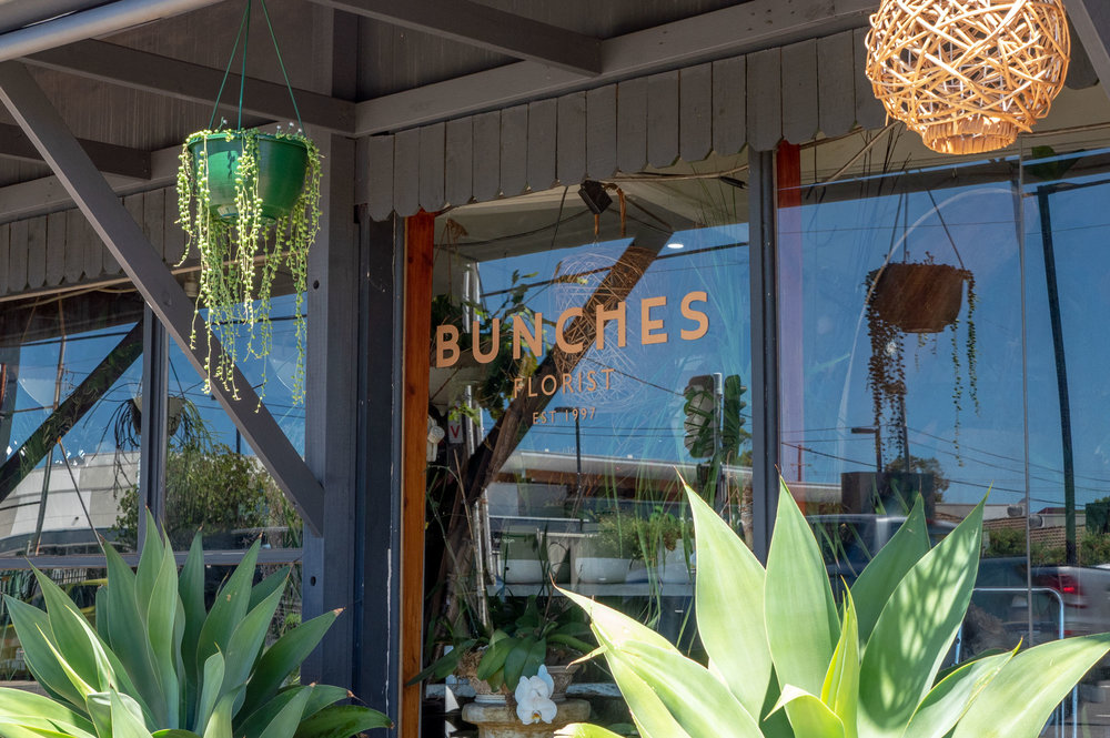 Bunches Florist - Window Vinyl Lettering