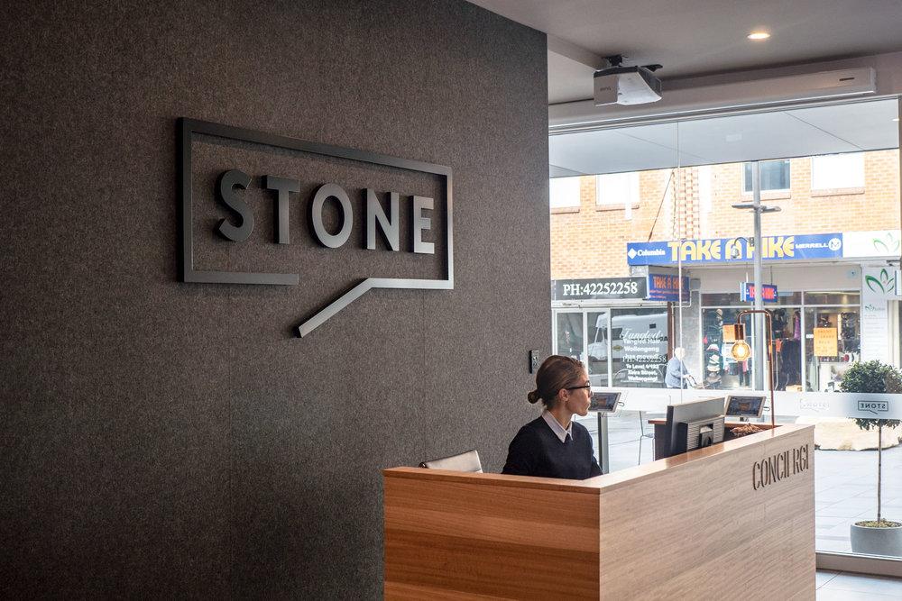Stone Real Estate Illawarra - Laser Cutting
