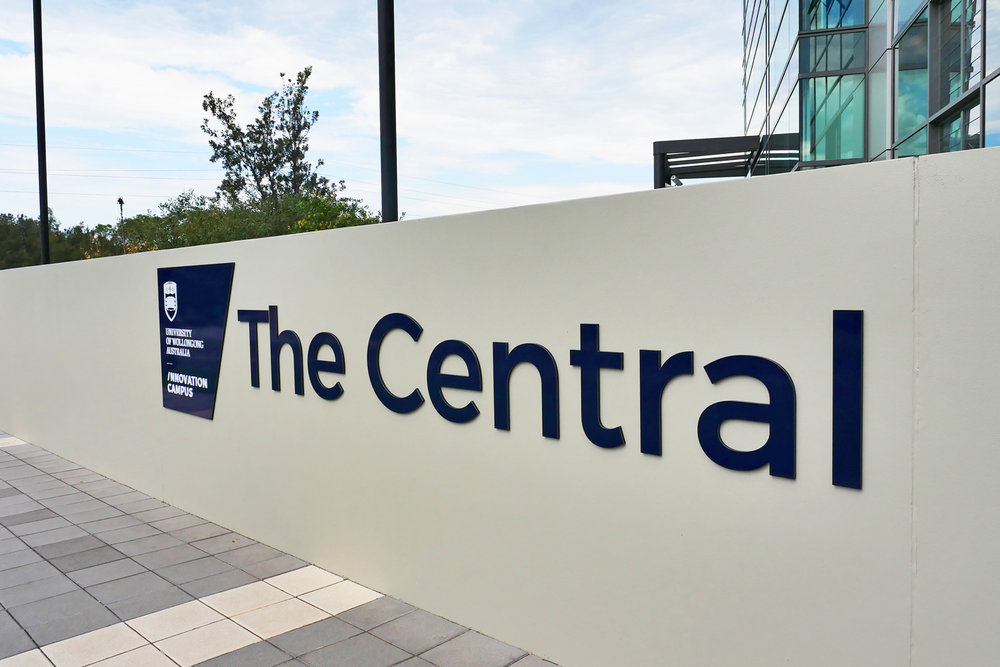 UOW Innovation Campus - Laser Cut Signage Letters