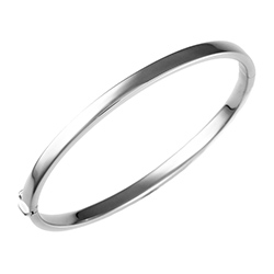 HERCO  Bangle in 14K White Gold
