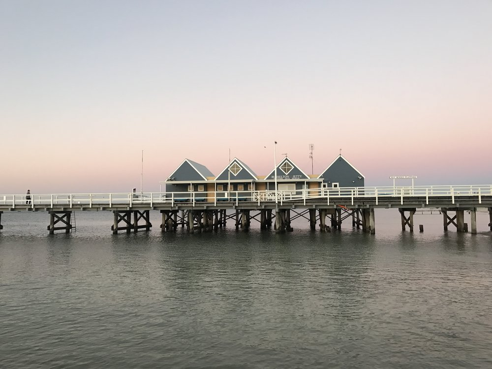 Busselton Jetty on sunset is the perfect spot for an afternoon stroll