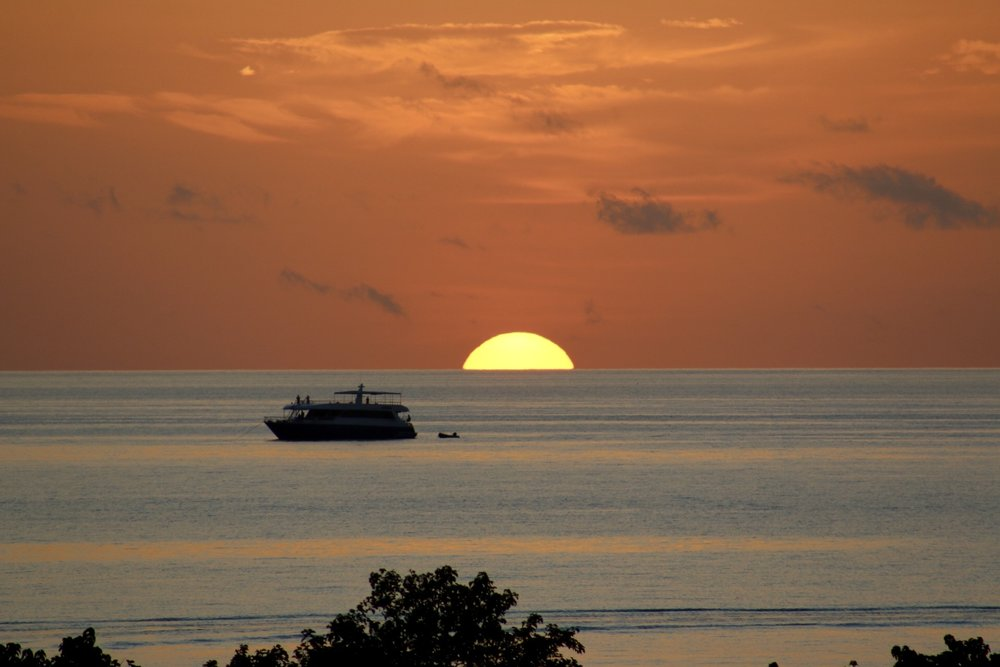 Thulusdhoo Island offers stunning sunsets like this one every single afternoon!