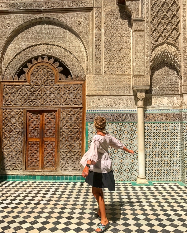 Architecture like this are more common that not throughout the bustling medina's and Imperial Cities of Morocco!