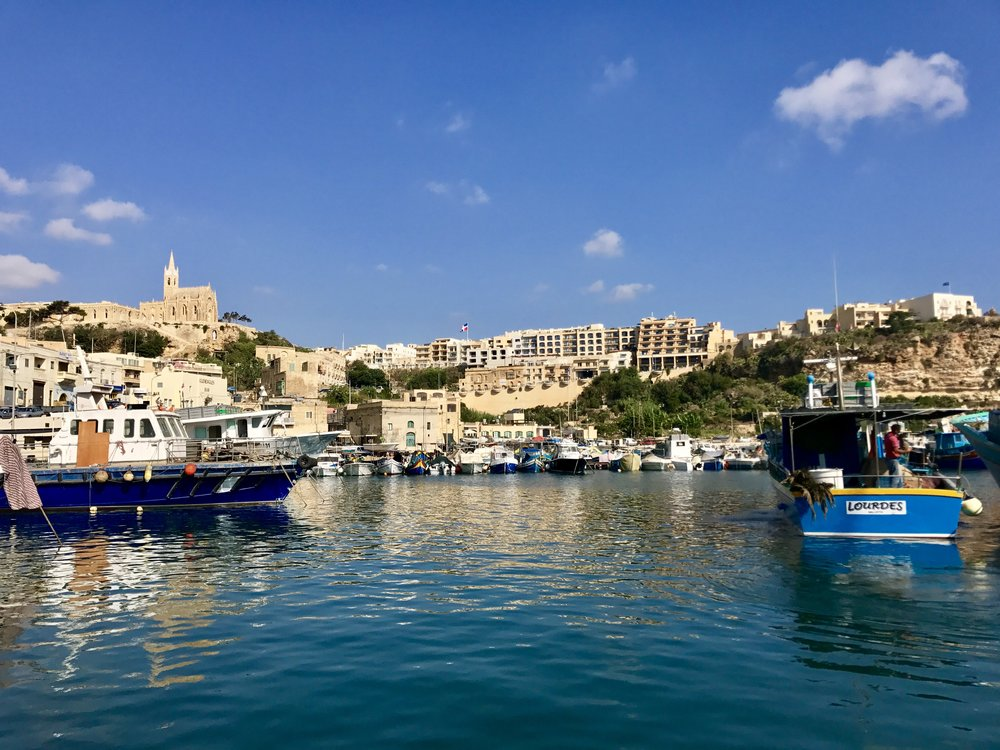 Gozo Harbour gives an immediate feel of a more relaxed and slower pace than on Malta. Image: @mermaid_tales_adventure