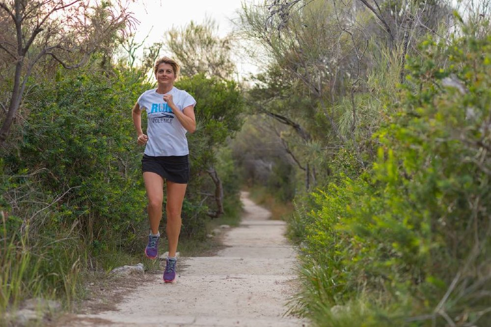 Ultra marathon runner Kirrily Dear covered 1300 kilometres in 2017 to bring awareness to domestic and family violence.