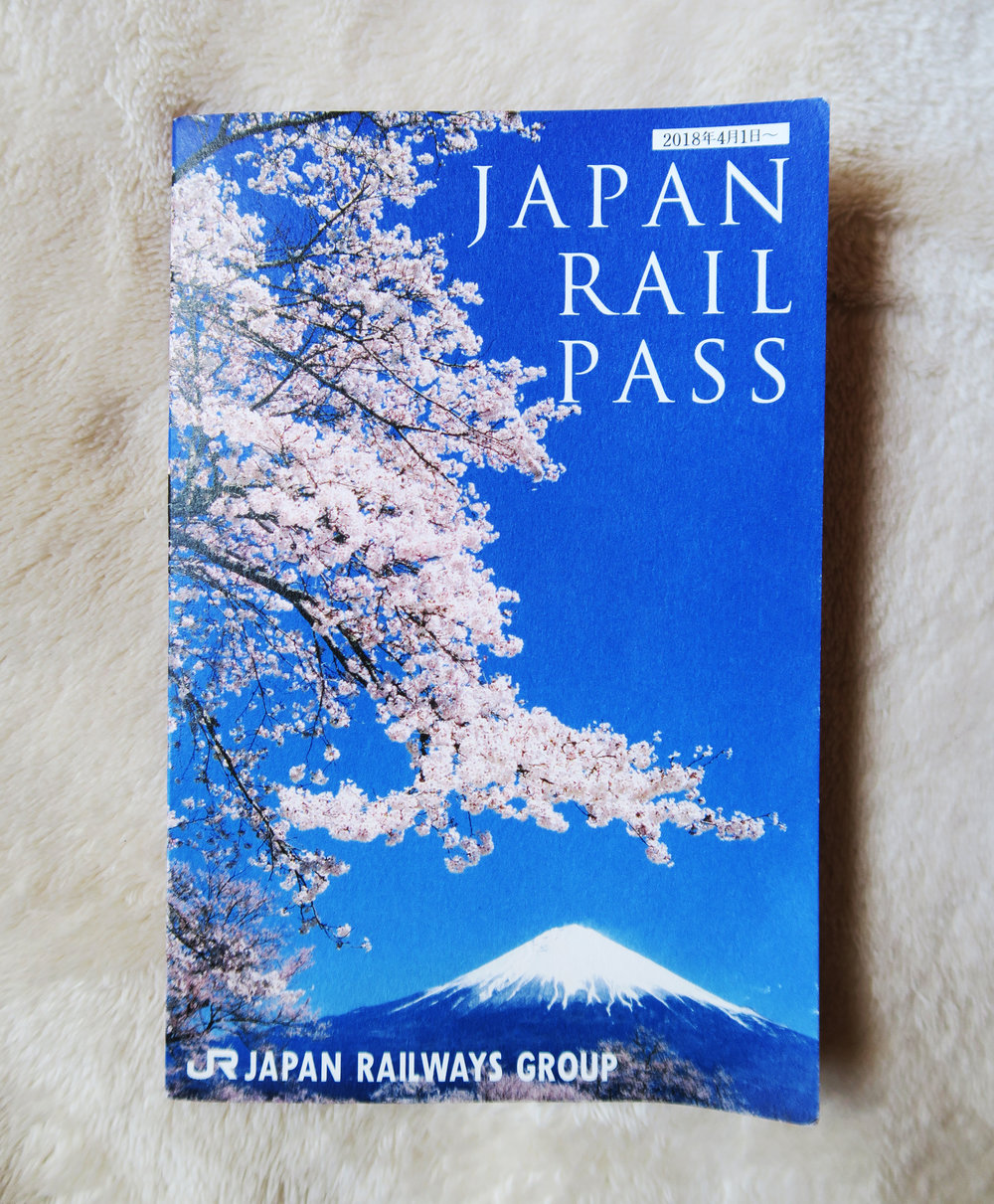 What a Japan rail pass looks like