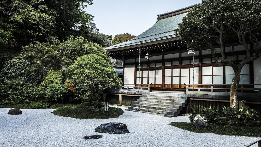 Bamboo forest shrine Kamakura