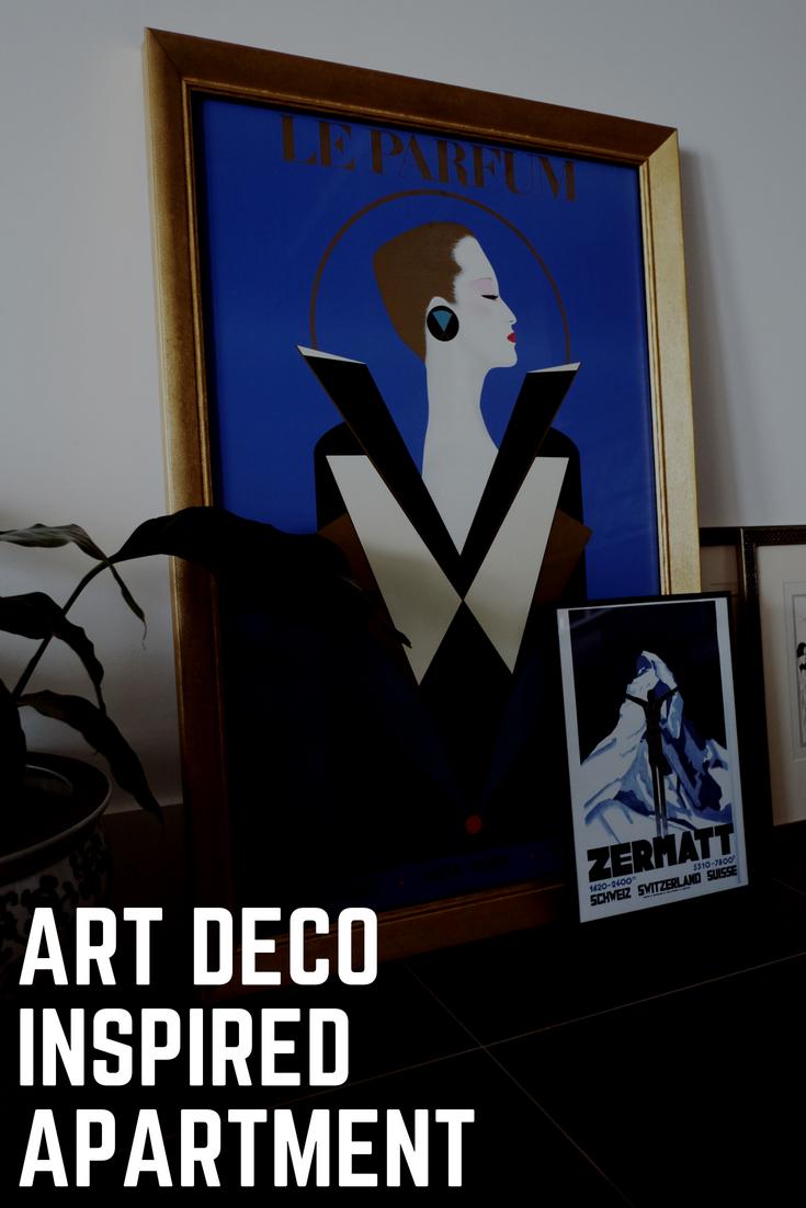 Art deco inspired apartment. Interior design inspiration.