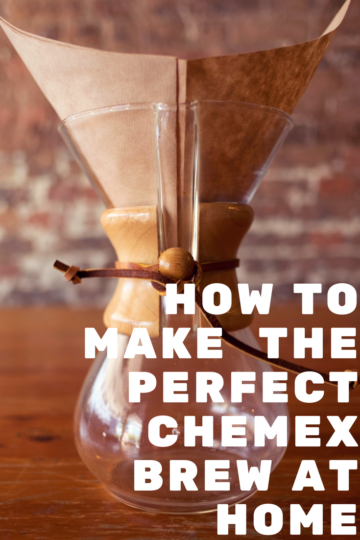How to make the perfect Chemex at home. Brewing coffee at home made easy. DIY specialty coffee at home. Step by step instructions on how to brew Chemex at home.